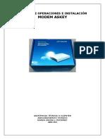 Manual de Operaciones e Instalación Modem Askey