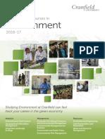 Cranfield Environment Course Brochure