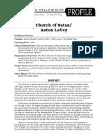 Church of Satan/Anton LaVey  Profile