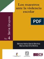 Los Maestros Ante La Violencia Escolar