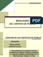 7.- MODALIDADES CONTRACTUALES