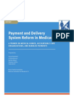 8837 Payment and Delivery System Reform in Medicare1