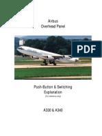 A330-A340 Overhead Push Buttons