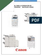 Manual Para La Operación de Copiadoras Digitales Canon