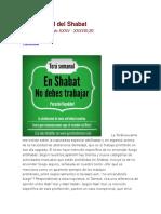 La Santidad Del Shabat