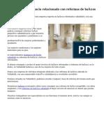 Gran servicio y negocio relacionado con reformas de baños