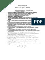 Teoria Sistemelor - Subiecte Partea 1