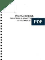 Mazatlán 1892-1894. Un Capítulo Olvidado en La Historia de Amado Nervo