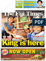 Burger King 4-Page Wrap-Around in The Fiji Times 18.02.16