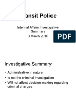 SEPTA Transit Police IA Investigative Summary