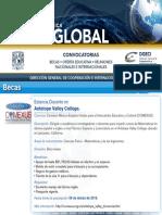 Cartelera de la Dirección General de Cooperación e Internacionalización sobre propuestas de movilidad para académicos y estudiantes