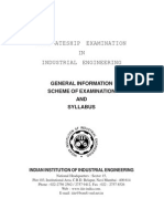 Indian Institution of Industrial Engineering (IIIE) Syllabus
