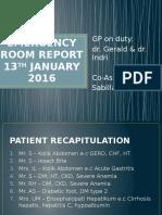 Emergency Room Report