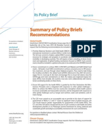 G8 G20 Policy Brief - Summary of Policy Briefs Recommendations