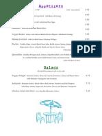 Pier Food and Drink Menu 2010