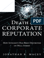 The Death of Corporate Reputation