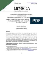 Expansão Urbana e Desigualdade Socioespacial