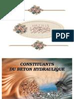 Constituants Beton