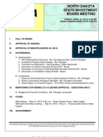 State Investment Board Meeting Agenda and Memo