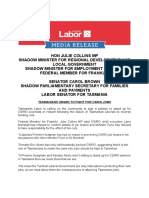 Tasmanians Urged to Fight for Csiro Jobs