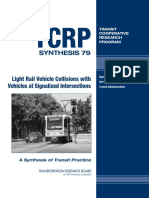 Light Rail Vehicle Collisions With Vehicles