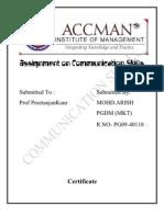Assignment on Communication Skills