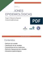 MEDICIONES EPIDEMIOLÓGICAS