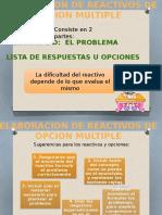 REDACCIÓN DE REACTIVOS MULTIPLES Y SUGERENCIAS