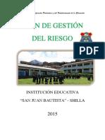Plan de Gestión Del Riesgo Sjb
