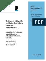 Medidas de Mitigación Ambiental Asociadas a Proyectos Hidroeléctricos
