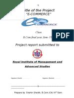 E-Commerce - Shahin Sheikh