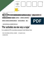 03-05-2016 'Por Ustedes No Me Voy a Rajar' - La Tarde