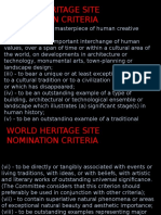 Criteria for Heritage Building