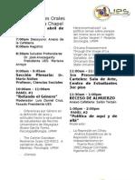 Programa XVIII Simposio de Investigación de Ciencias Sociales