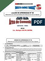 UNIDAD DE APRENDIZAJE N° 03 - COMUNICACIÓN