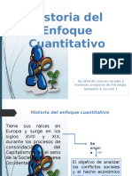 Historia Del Enfoque Cuantitativo Power Point