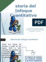 Historia Del Enfoque Cuantitativo Power Point