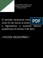 Periodo vacacional marzo-abril 2016