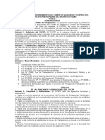 Reglamento de Funcionamiento Del Comité de Vigilancia y Control Del Presupuesto Participativo Del Distrito de Saño