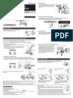 Shimano Rear Derailleur Manual for RD-TX75/RD-TX55/RD-TX35