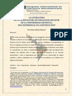 La Literatura en LPI Arturo Alonso