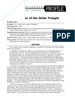 The Order of the Solar Temple Profile by Marty Butz