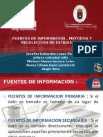 FUENTES DE INFORMACION , METODOS Y RECOLECCION DE ESTADISTICAS