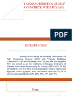Durability Characteristics of Self Compacting Concrete With Fly Ash