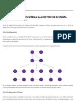 ÁRBOL DE EXPANSIÓN MÍNIMA