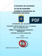 Informe de Campo - Cumbemayo