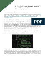 Autoroute Desain PCB Pada Eagle Dengan Bantuan Electra Shape Based PCB