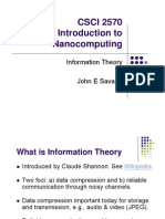 Lect 09 Information Theory