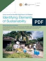 Identifying Elements of Sustainability