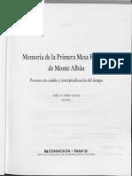Memoría mesa redonda Monte Albán